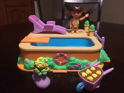 Doll Swimming Pool Dora the Explorer Talking Swimming Pool Toy With Cooler