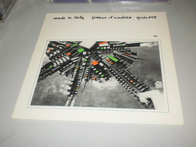 Franco D'andrea Quartet - Made In Italy - Red Records Lp - Italy Jazz - 1982 -