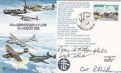 40th Anniv VJ Day Signed McCampbell, Rex Barber shoot down Admiral Yamamoto