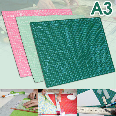 A3 PVC Self Healing Cutting Mat Craft Quilting Grid Lines Printed Board 45x30CM