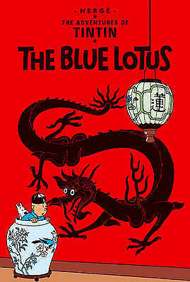 The Adventures of Tintin: Le Lotus Bleu by Herge (Hardback, 1962) French Edition