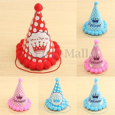Cone Hats Favour Supplies Kid Children Party Birthday Celebration Polka Dots