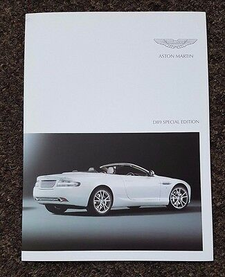 Aston Martin DB9 Special Edition Sales Brochure - 6 sided foldout