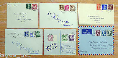 GB Stamps QEII 1952-54 Definitve Wilding First Day Covers Collection