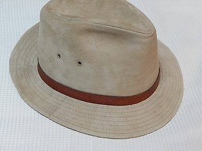 Vintage Barbisio Hat Leather with Barbisio Pin on Band Large Size So Swank Retro