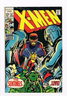 X-Men # 57  The Sentinels Live !  Neal Adams Classic  grade 4.5  scarce book !!