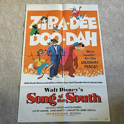Song Of The South Original 1973 US One Sheet  27x41