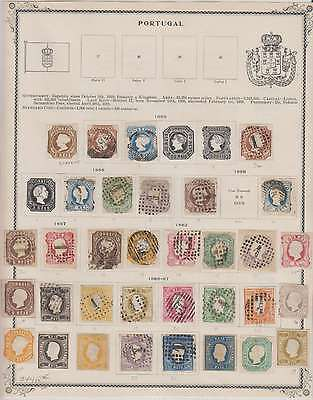B7977: 19th C Portugal Stamp Collection; CV $7465
