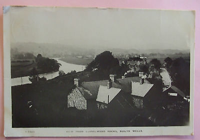 KINGSWAY RP Postcard 1922 VIEW FROM LLANELWEDD ROCKS BUILTH WELLS BRECONSHIRE