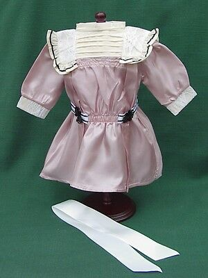 "American Girl 18"" Retired SAMANTHA ROSE LACE TALENT SHOW DRESS + HAIR BOW REPRO"