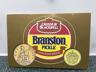 Collectable 1989 & 1919 £1 Branston Pickle In For A Penny In For A Pound Coin
