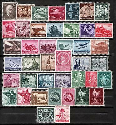 3rd Reich MNH 1944 COMPLETE YEAR POST OFFICE FRESH!!!