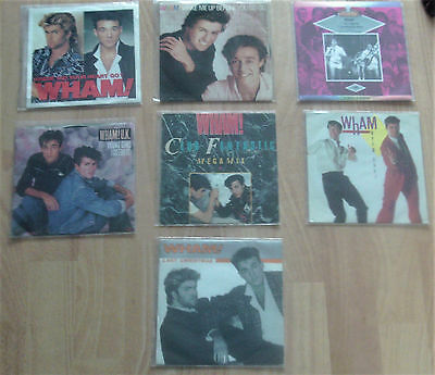 "Wham! - Lot 7  45T (7"") W/rare Covers (George Michael)"