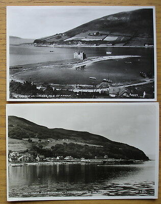 Colliemor and Pierhead & The Castle of Lochranza. Real photo postcards c.1950s