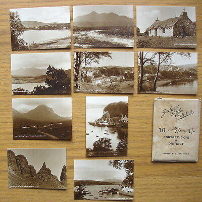 10 Sepia Photographs of Portree Skye & District by Judges. Circa 1950s?