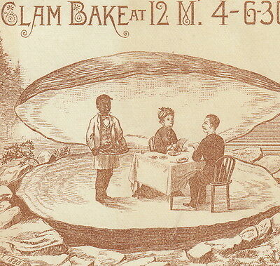 Clam Bake Melville Garden 1880 Billiards Bowling Shooting Alleys Flying Horses