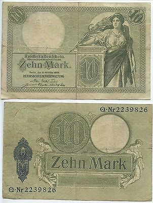 GB253 - Banknote Deutsches Reich 10 Mark 1906 RAR