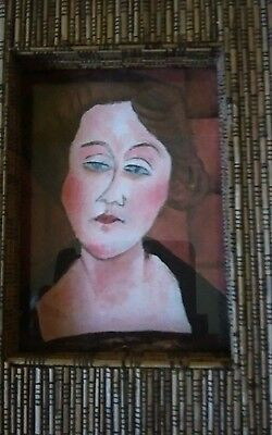 Simon Cole Oil Painting Portrait Of Female In Standing Frame.