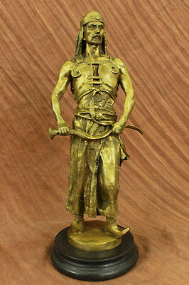 Bronze Vintage Art Deco Persian Empire Soldier Sculpture Signed Goudray