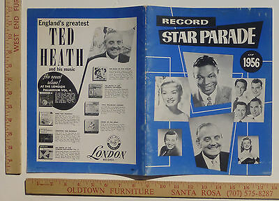 Nat King Cole June Christy Four Freshman Record Star Parade 1956 Jazz Program