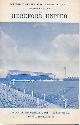 Bedford v Hereford United (Southern League) 1963/4