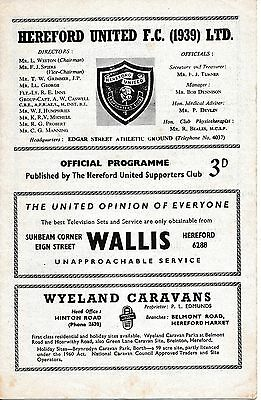 Hereford v Bexley United (Southern League) 1963/4