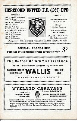Hereford v Romford (Southern League) 1963/4
