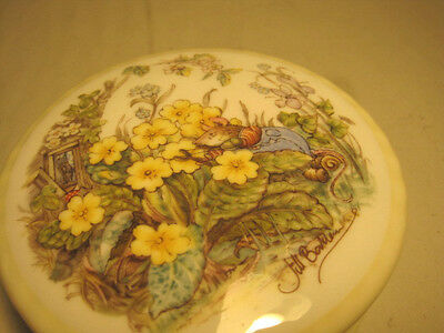 "Royal Doulton ""spring"" Trinket Box From The Brambley Hedge Collection"