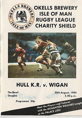 Hull KR v Wigan Rugby League Programme 25th August 1985