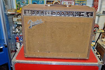 1960's Vintage Fender Brown Super Guitar Amp