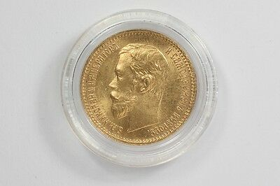 1902 Russia 5 Rouble Gold Coin Imperial Russian Nicholas II