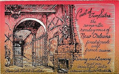 New Orleans, LA Court of Two Sisters restaurant Advertising Postcard   unposted