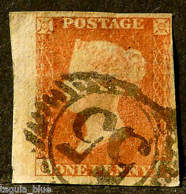 GB Stamps 1841 sg8 1d red-brown