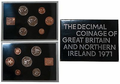 1971 Royal Mint The Coinage of Great Britain & Northern Ireland - Coin Set