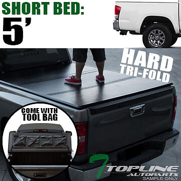 TRI-FOLD SOLID TONNEAU COVER w/TOOL BAG 2016-2017 TACOMA ACCESS/DOUBLE 5 FT BED