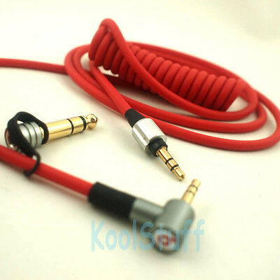 Red Audio Replacement 3.5mm 6.5mm Cable for beats by Dr. Dre headphones