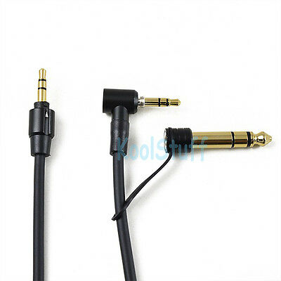 Black Audio Replacement 3.5mm 6.5mm Cable for beats by Dr. Dre headphones