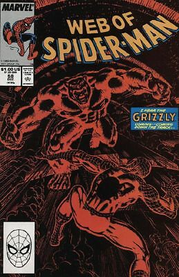 The Web of Spider-Man #58 VG 1989 Marvel Acts of Vengeance Comic Book