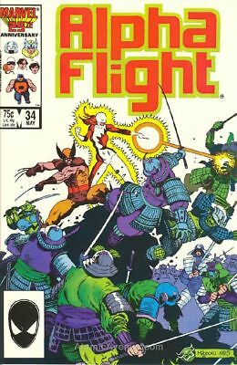 Alpha Flight #34 VG/F 1986 Marvel Mike Mignola Wolverine Cover Comic Book