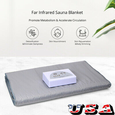 Far Infrared FIR Sauna Blanket Detox Slimming Home Spa Suit Weight Loss Machine