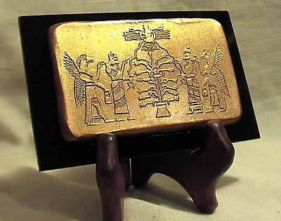 TREE OF LIFE Assyrian Cylinder Seal Tablet 900 BC ancient replica