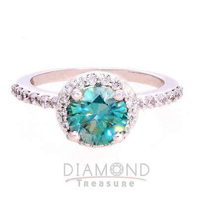 Rare 1.30 ct Moissanite Engagement wedding Ring 925 Sterling Silver