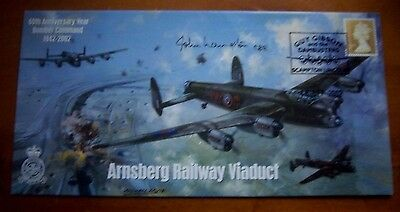 Air Commodore J Langston Signed Raf 617 Sqd Dambusters Cover