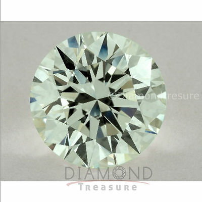 6.00 mm to 12.00 mm Off White Green Round Cut Loose Moissanite Diamond