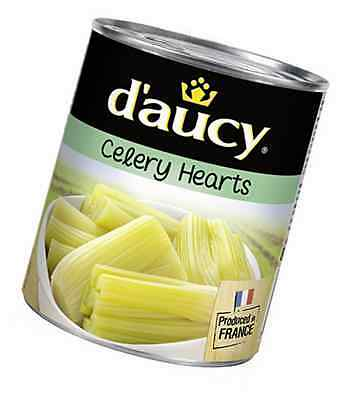 D'aucy Celery Hearts 800 g (Pack of 6)