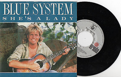 "BLUE SYSTEM ‎– She's A Lady / Voodoo Nights, SG 7"" SPANISH PRESS 1988"