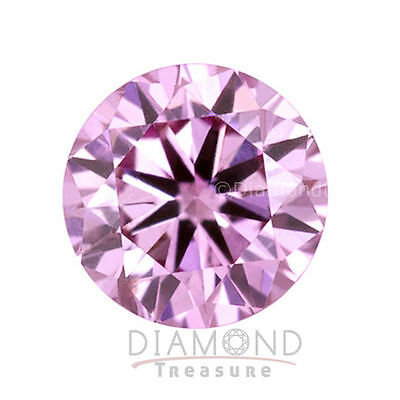 6.00 mm to 12.50 mm Vivid Pink Color Round Brilliant Loose Moissanite Diamond