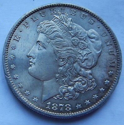 USA Morgan Dollar 1878 S MS63  .900 Silver
