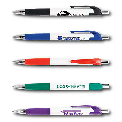 Blue Ink Click Pens Personalized Imprint Cheap Promotionals