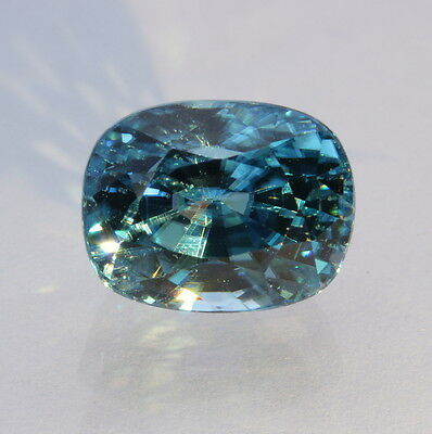 Windex Blue Zircon Faceted Oval Natural Cambodian Sparkling Gemstone 8.64 carat